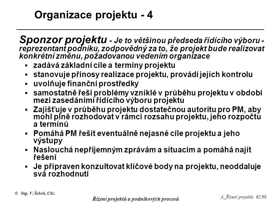 Organizace projektu - 4