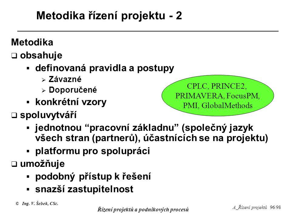 Metodika řízení projektu - 2