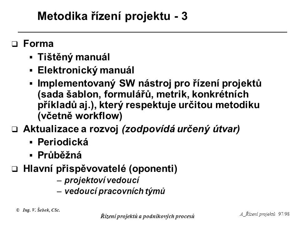 Metodika řízení projektu - 3