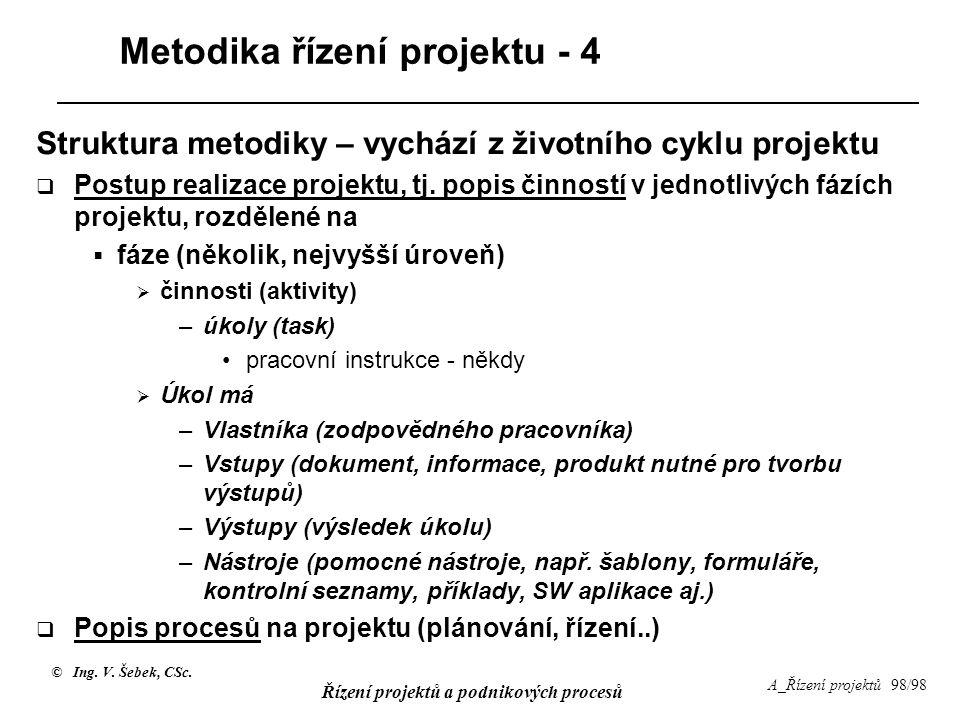 Metodika řízení projektu - 4