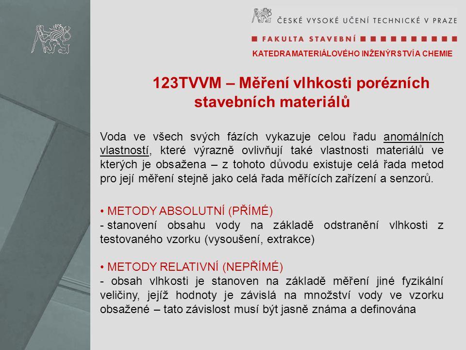 123TVVM – Měření vlhkosti porézních stavebních materiálů