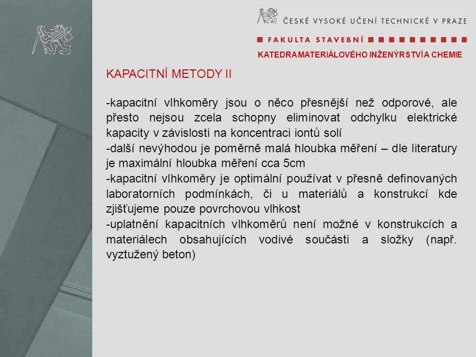 KAPACITNÍ METODY II