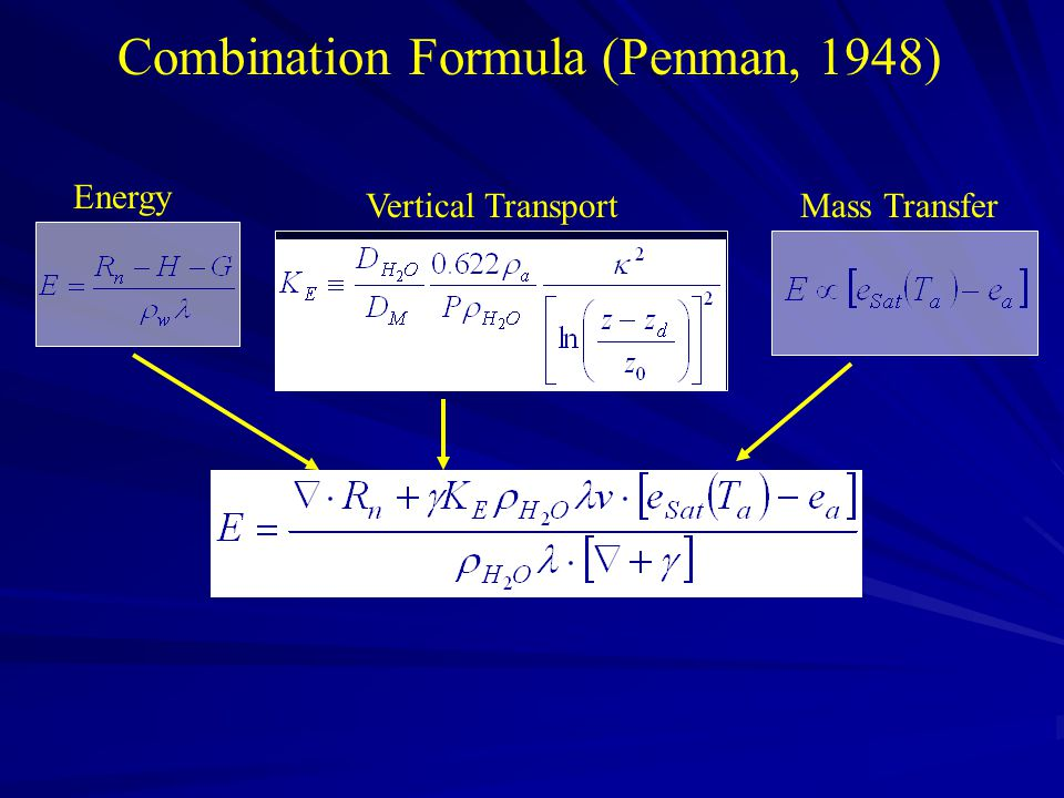 Combination Formula (Penman, 1948)