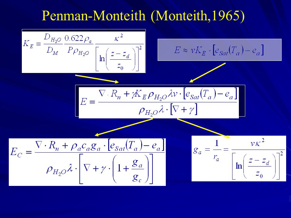 Penman-Monteith (Monteith,1965)