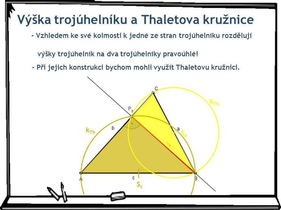 Výška trojúhelníku a Thaletova kružnice