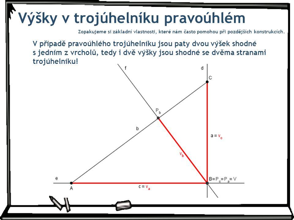 Výšky v trojúhelníku pravoúhlém