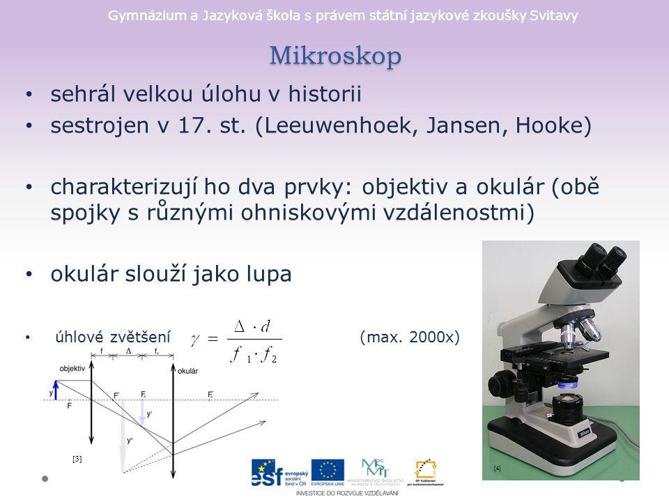 Mikroskop sehrál velkou úlohu v historii