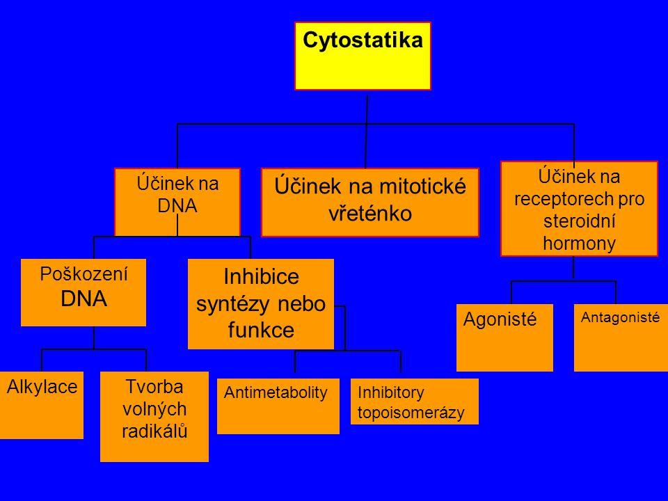 Inhibice syntézy nebo funkce