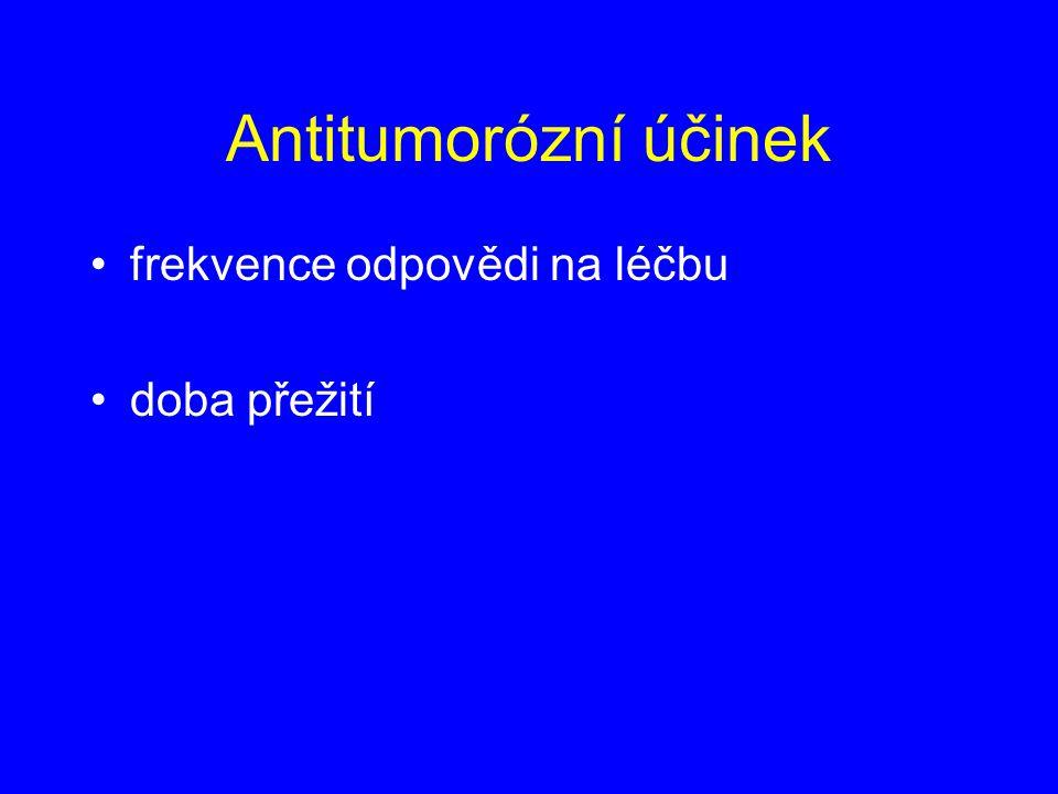 Antitumorózní účinek frekvence odpovědi na léčbu doba přežití