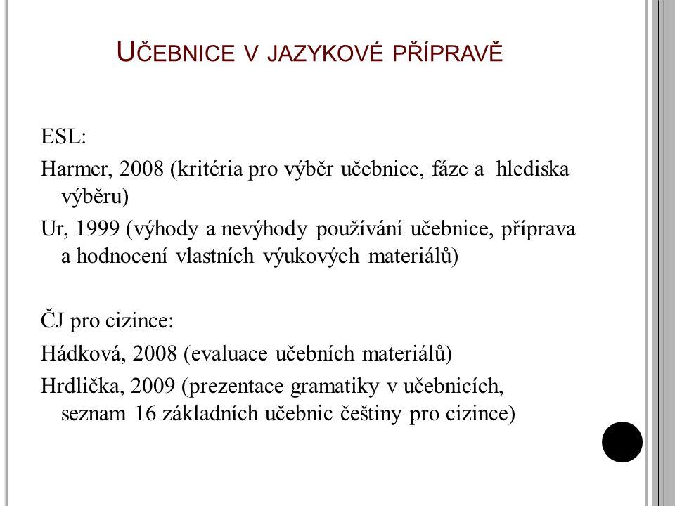 Učebnice v jazykové přípravě
