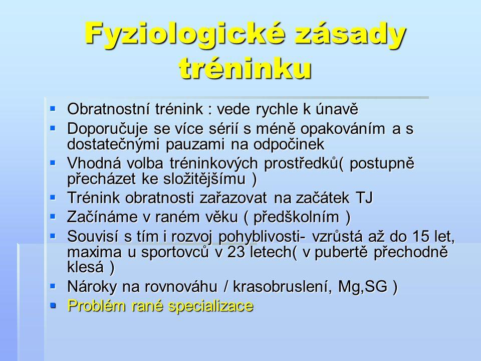 Fyziologické zásady tréninku