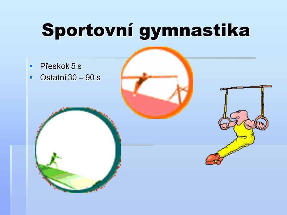 Sportovní gymnastika Přeskok 5 s Ostatní 30 – 90 s