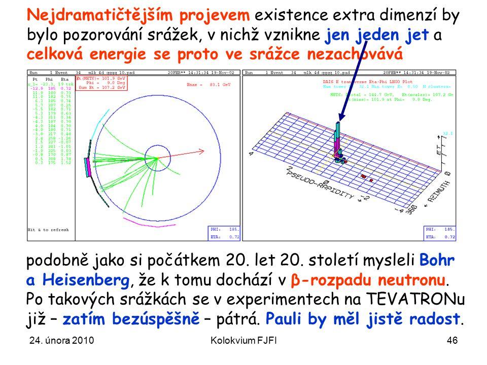 Nejdramatičtějším projevem existence extra dimenzí by