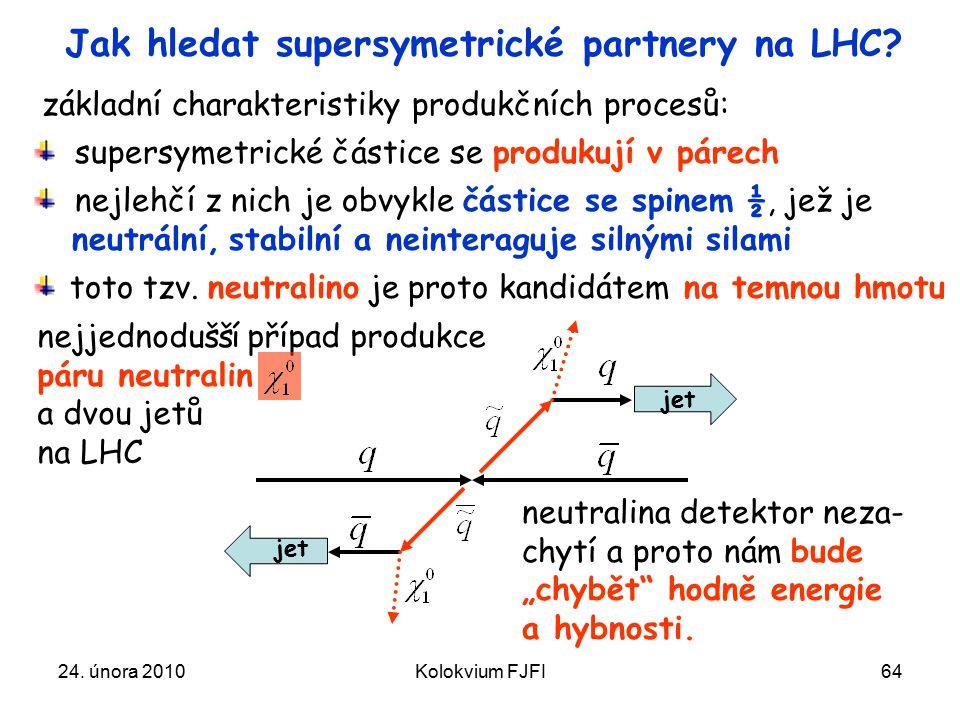 Jak hledat supersymetrické partnery na LHC
