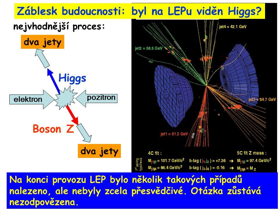 Záblesk budoucnosti: byl na LEPu viděn Higgs