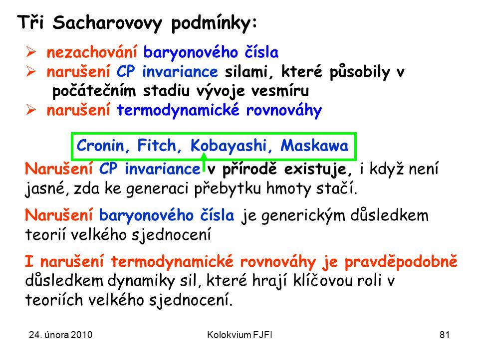 Tři Sacharovovy podmínky: