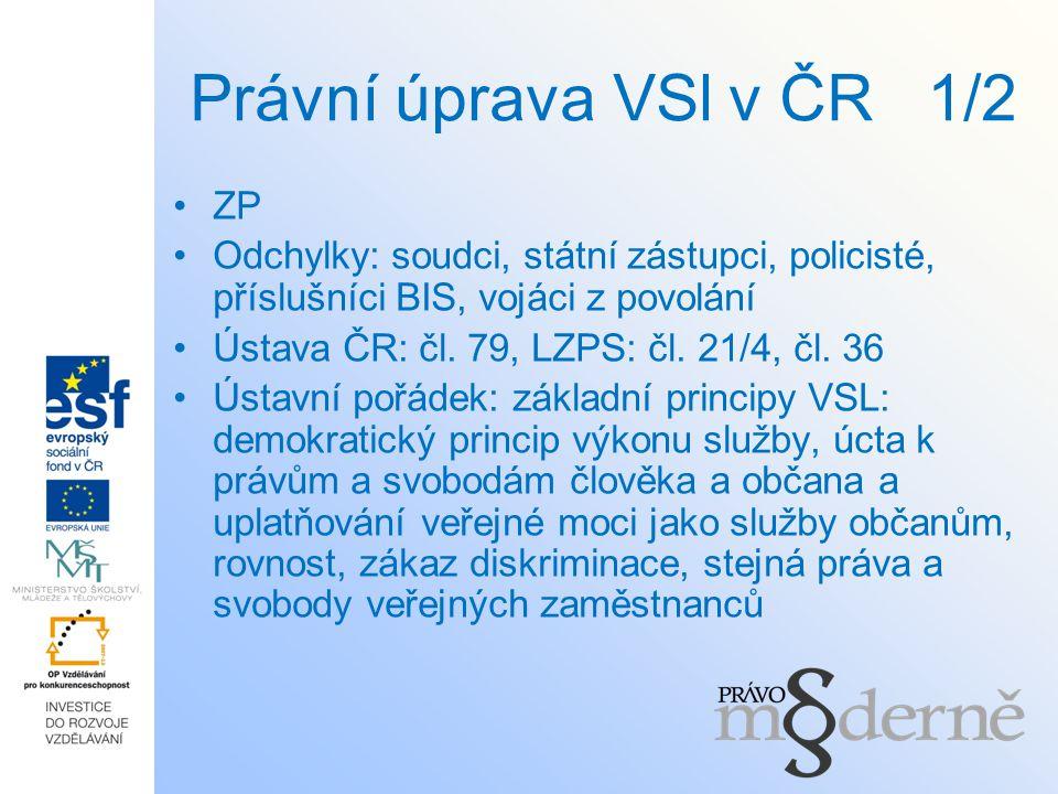 Právní úprava VSl v ČR 1/2 ZP
