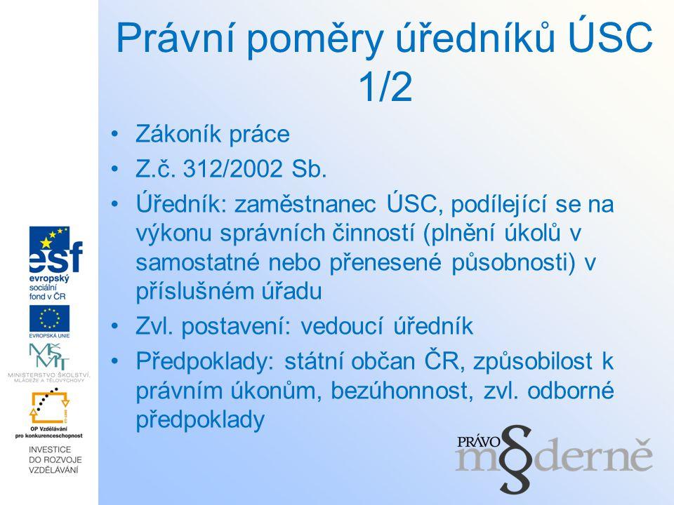 Právní poměry úředníků ÚSC 1/2