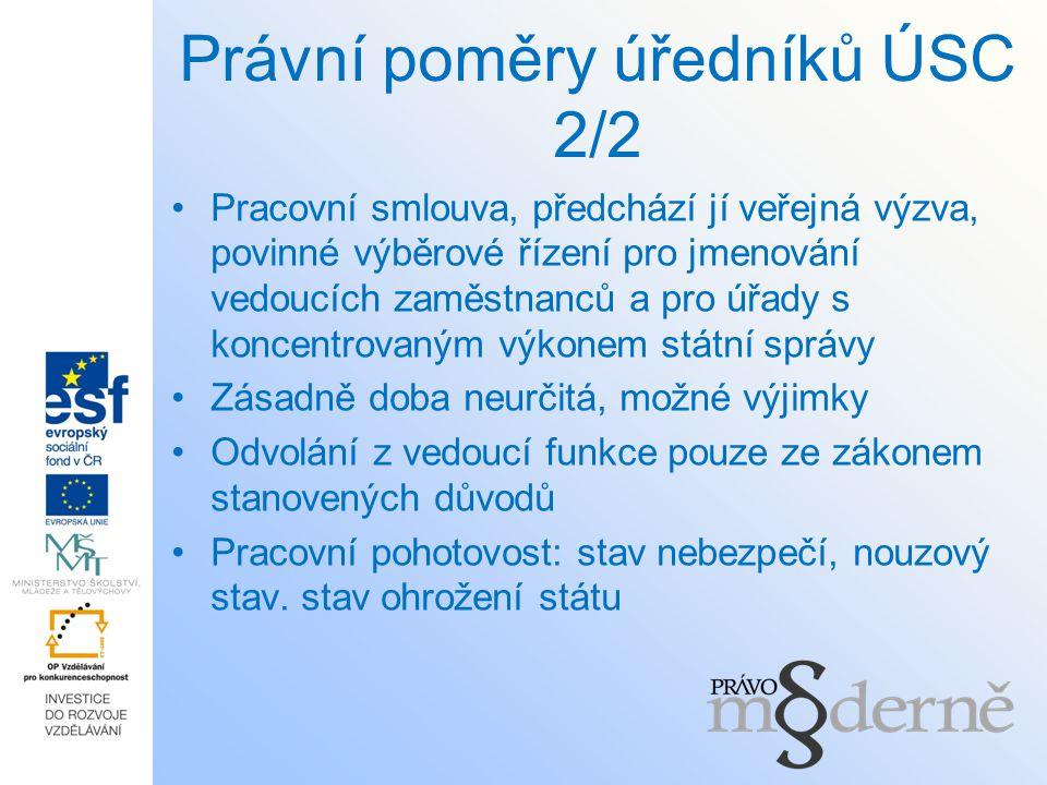 Právní poměry úředníků ÚSC 2/2