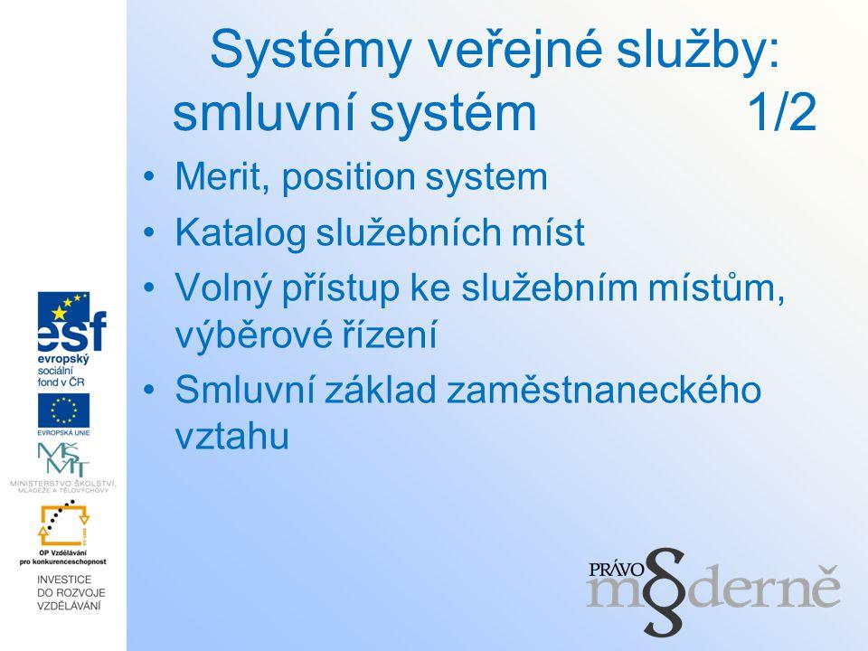 Systémy veřejné služby: smluvní systém 1/2