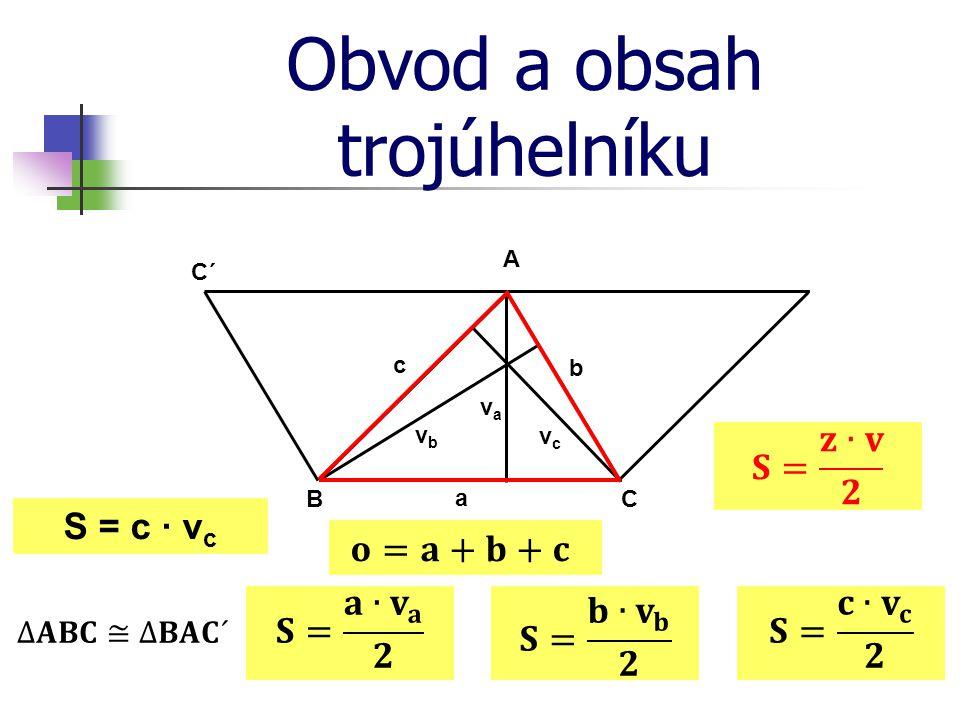 Obvod a obsah trojúhelníku