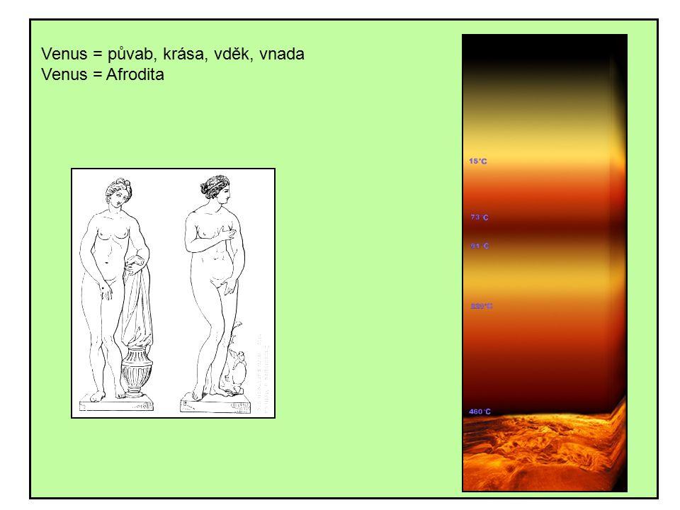 Venus = půvab, krása, vděk, vnada