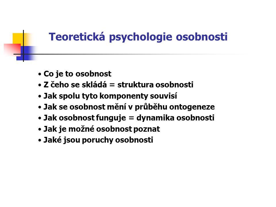 Teoretická psychologie osobnosti