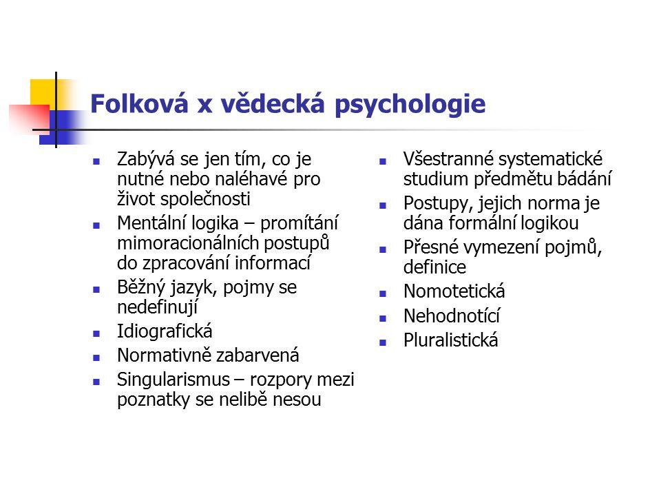 Folková x vědecká psychologie