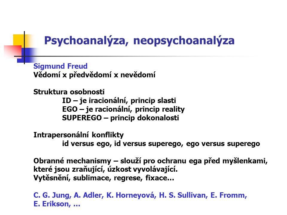 Psychoanalýza, neopsychoanalýza