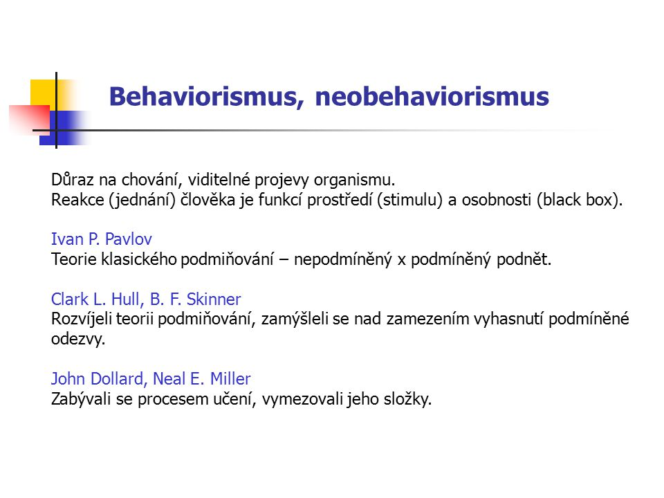Behaviorismus, neobehaviorismus