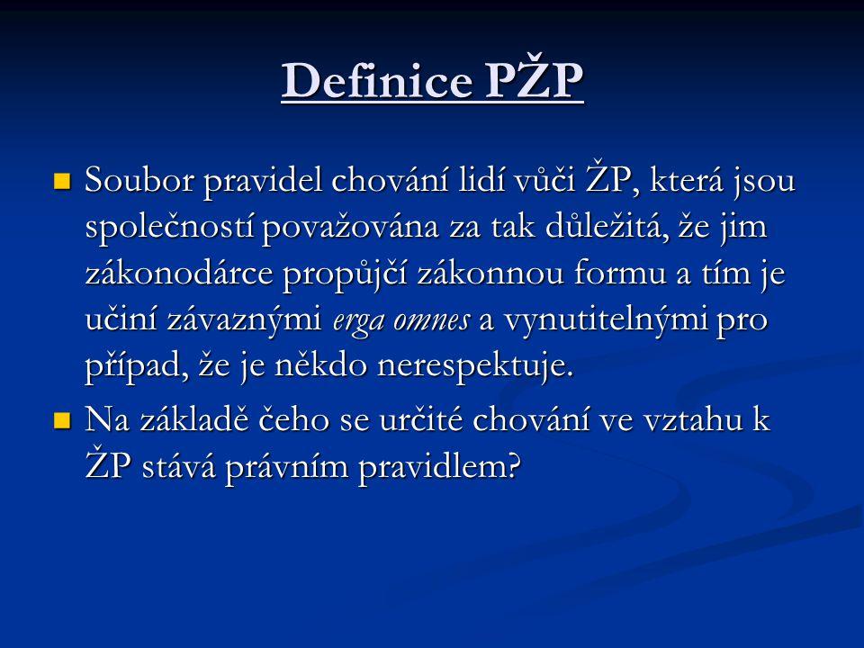 Definice PŽP
