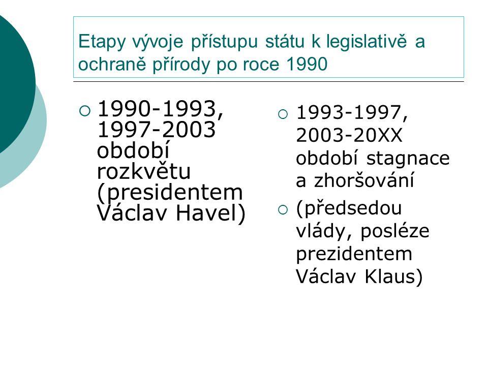 1990-1993, 1997-2003 období rozkvětu (presidentem Václav Havel)