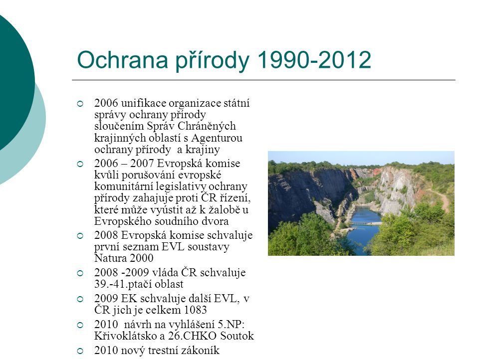 Ochrana přírody 1990-2012