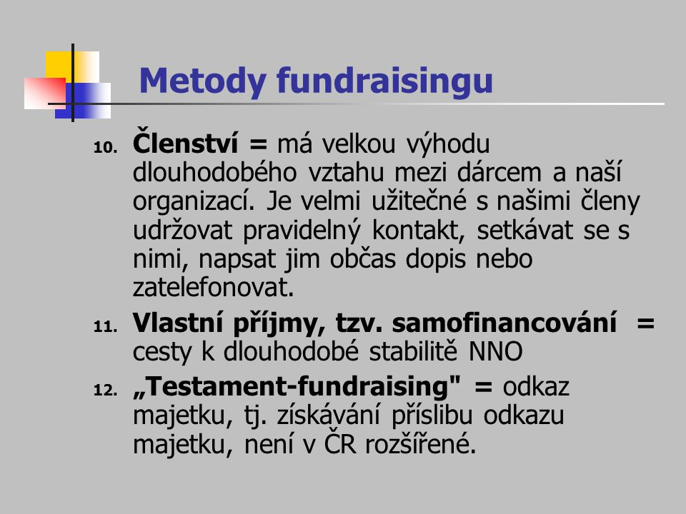 Metody fundraisingu