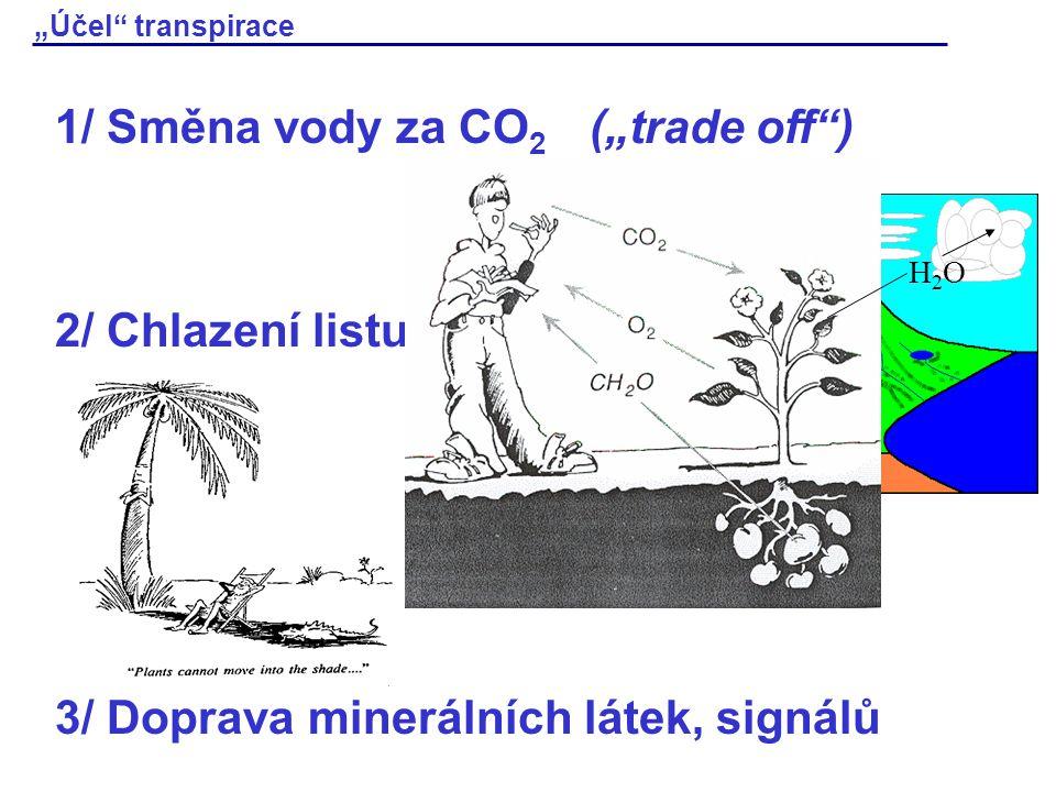 """1/ Směna vody za CO2 (""""trade off )"""