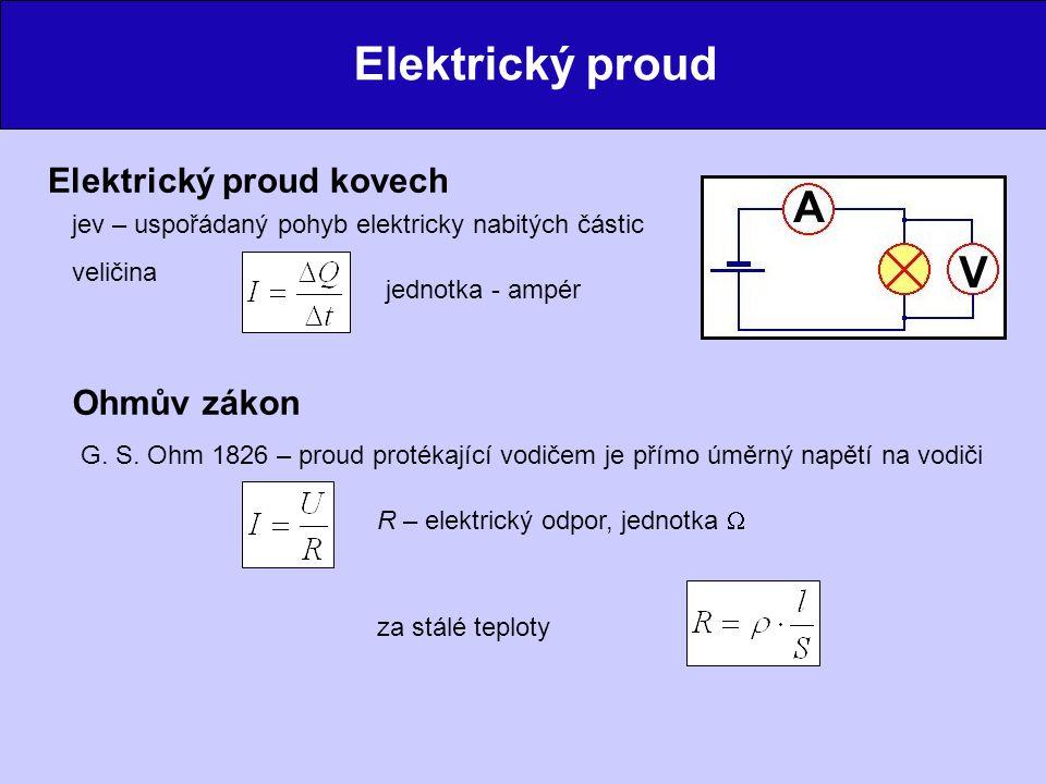 Elektrický proud Elektrický proud kovech Ohmův zákon