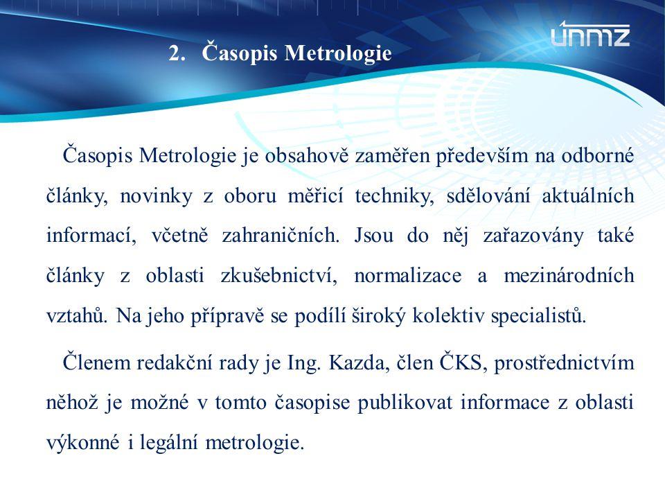 Časopis Metrologie