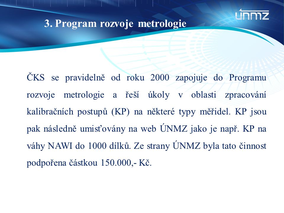 Program rozvoje metrologie