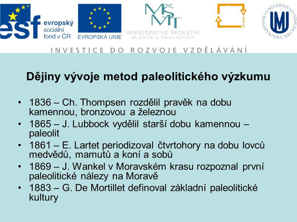 Dějiny vývoje metod paleolitického výzkumu