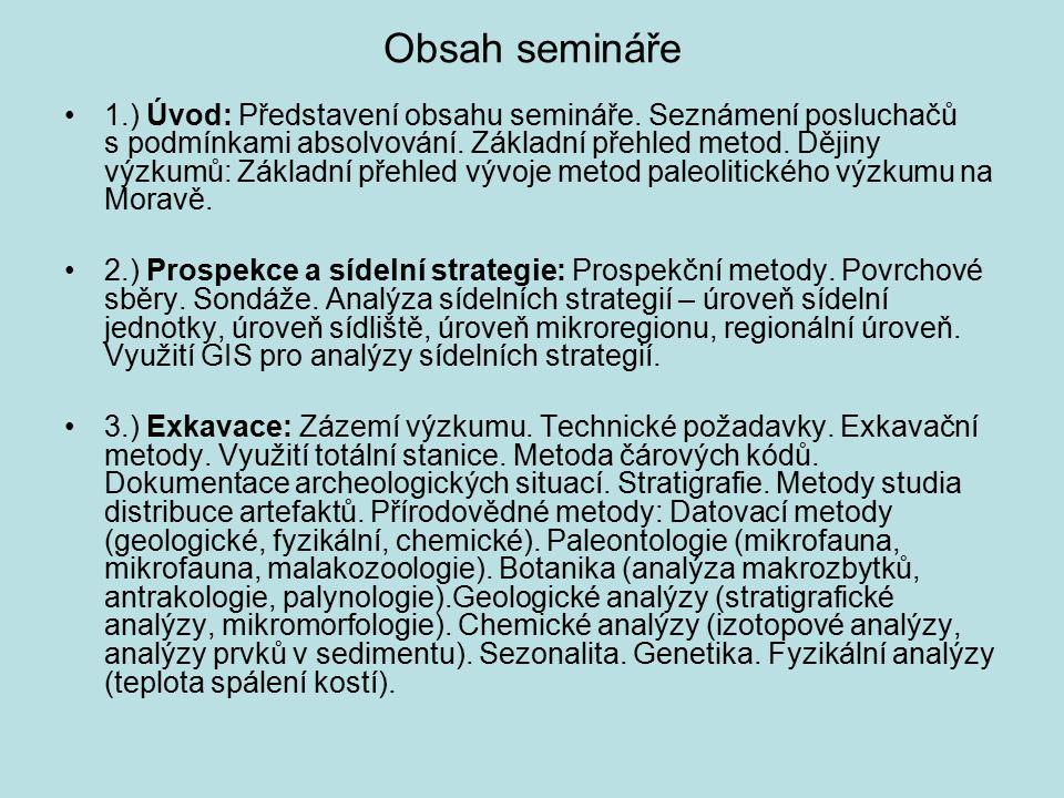 Obsah semináře