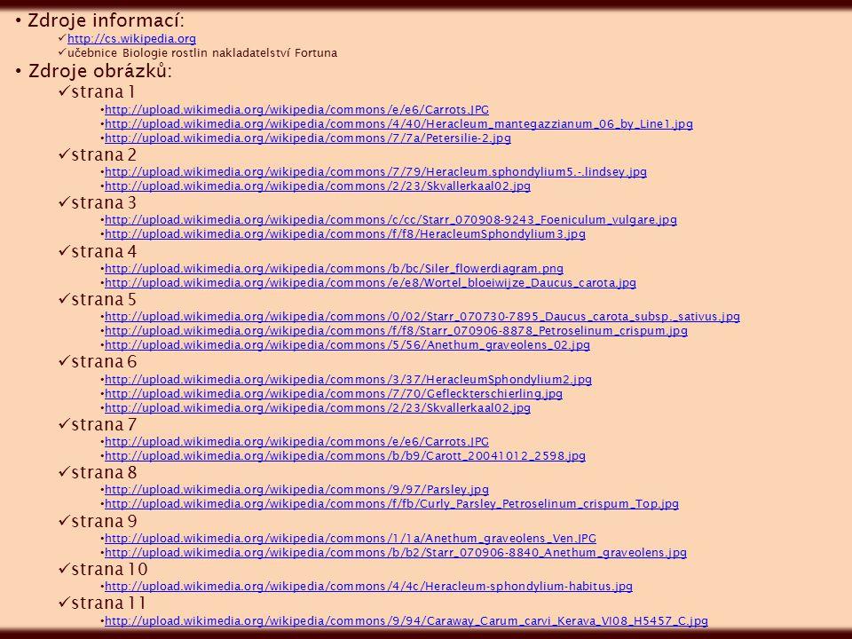 Zdroje informací: Zdroje obrázků: strana 1 strana 2 strana 3 strana 4