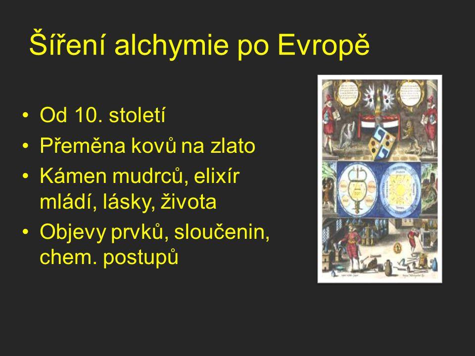 Šíření alchymie po Evropě