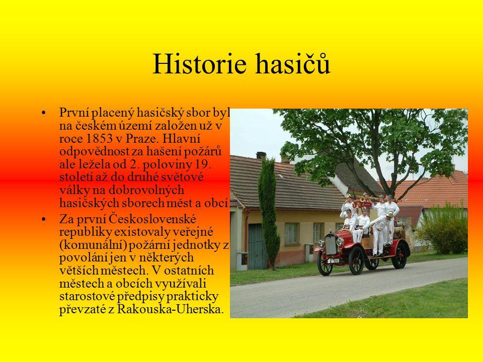 Historie hasičů