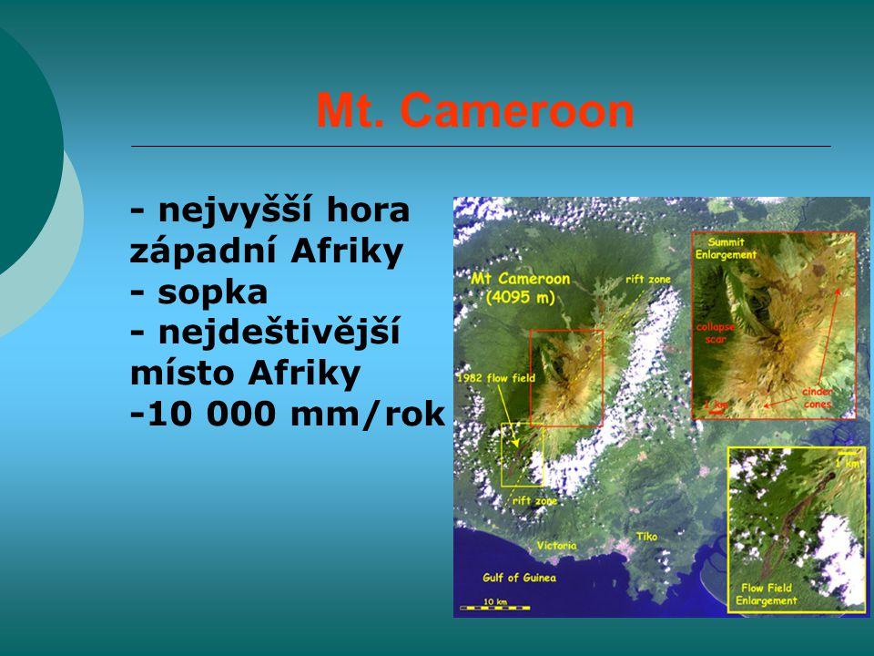 Mt. Cameroon - nejvyšší hora západní Afriky - sopka - nejdeštivější