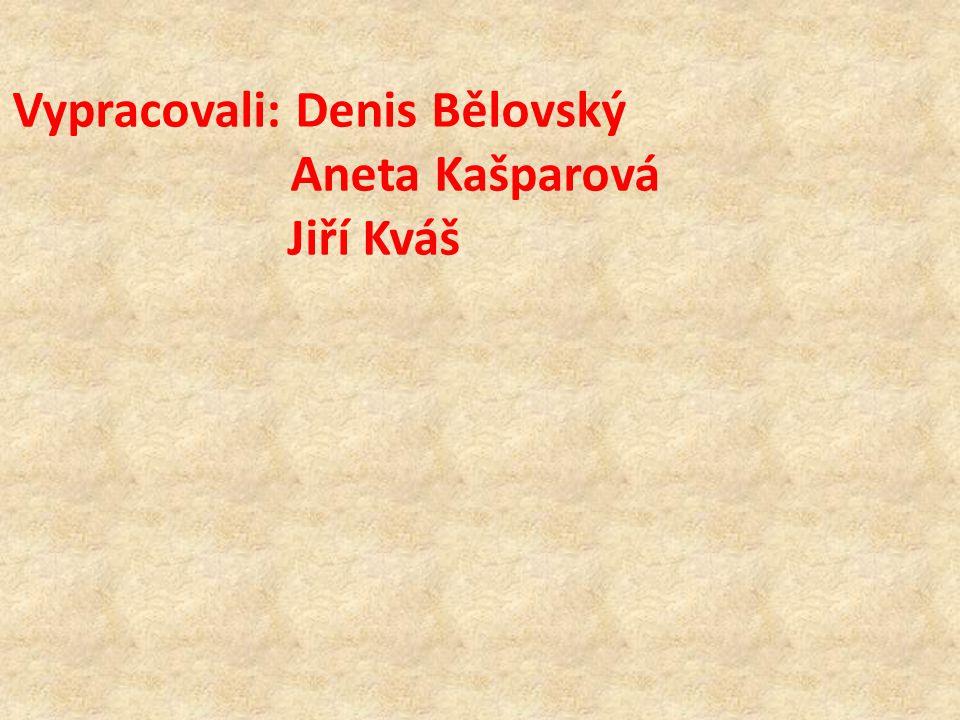 Vypracovali: Denis Bělovský Aneta Kašparová Jiří Kváš