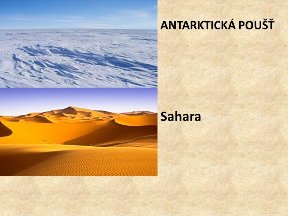 Antarktická poušť Sahara