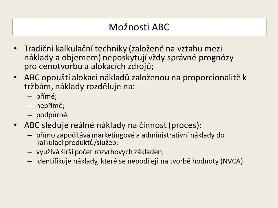 Možnosti ABC
