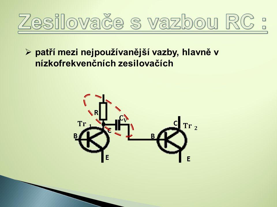 Zesilovače s vazbou RC :