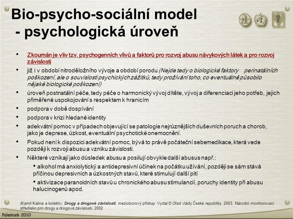 Bio-psycho-sociální model - psychologická úroveň