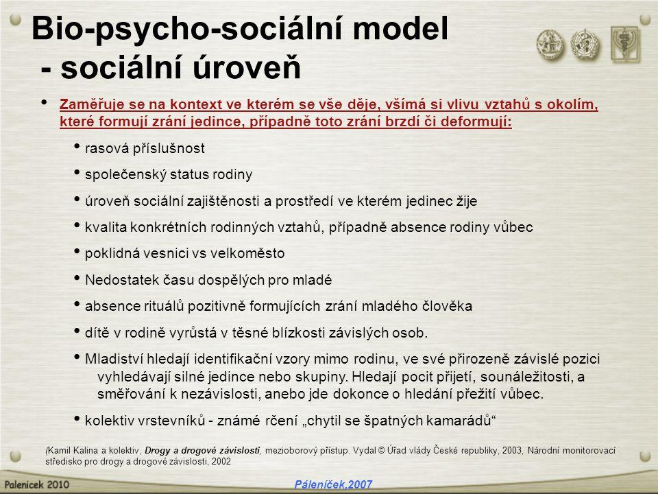 Bio-psycho-sociální model - sociální úroveň